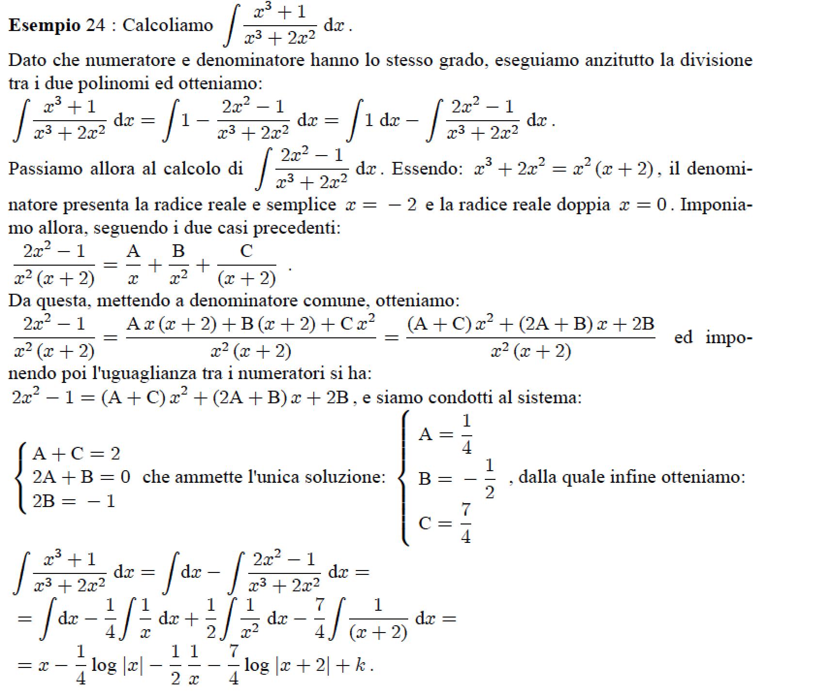 integrali di funzioni razionali fratte pdf free